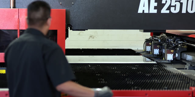 Sheet Metal Punch Machine in Use