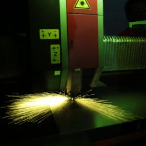 Fiber Laser Cutter in action
